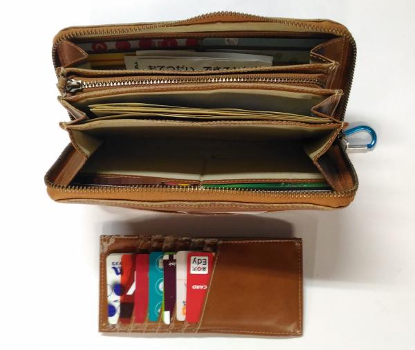 家計管理の財布 カードポケット